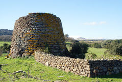 Nuraghe. Archeological building in Sardinia, Italy (1500 B. C stock image