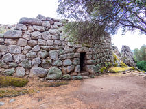 Nuraghe Albucciu, Arzachena, Sardinia. Beautiful Nuraghe, the mysterious main type of ancient megalithic construction found in Sardinia, developed during the Royalty Free Stock Image