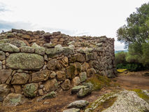 Nuraghe Albucciu, Arzachena, Sardinia. Beautiful Nuraghe, the mysterious main type of ancient megalithic construction found in Sardinia, developed during the Royalty Free Stock Photos