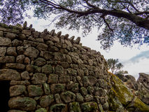 Nuraghe Albucciu, Arzachena, Sardinia. Beautiful Nuraghe, the mysterious main type of ancient megalithic construction found in Sardinia, developed during the Stock Photography