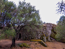 Nuraghe Albucciu, Arzachena, Sardinia. Beautiful Nuraghe, the mysterious main type of ancient megalithic construction found in Sardinia, developed during the Royalty Free Stock Photo