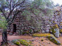 Nuraghe Albucciu, Arzachena, Sardinia. Beautiful Nuraghe, the mysterious main type of ancient megalithic construction found in Sardinia, developed during the Royalty Free Stock Images