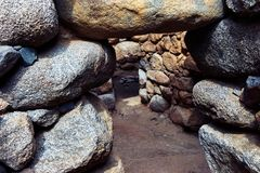 Nuraghe, an ancient building from Sardinia stock image