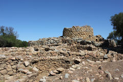 Nuraghe Arzachena. The nuraghe is a type of construction megalithic this truncated cone shape with different density on the whole territory of Sardinia. [1] Stock Photo