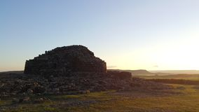 Nuraghe in Barumini. Sardegna stock photography