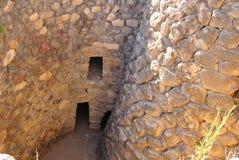 Nuraghe of Barumini (Tower). Su Nuraxi A unesco patrimony of Sardinia royalty free stock photography