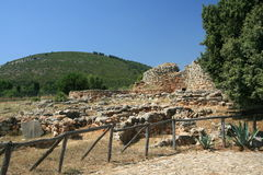 Nuraghe di Palmavera, Sardegna Fotografia Stock