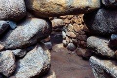 Nuraghe en forntida byggnad från Sardinia fotografering för bildbyråer