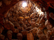 Nuraghe interior Royalty Free Stock Photography