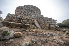 Nuraghe. La Prisgiona ad Arzachena Royalty Free Stock Photo
