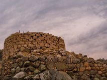 Nuraghe La Prisgiona, Arzachena, Sardinia    . The Nuraghe La Prisgiona is a nuragic archaeological site, located in the Capichera valley in the Royalty Free Stock Photography