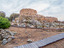 Nuraghe La Prisgiona, Arzachena, Sardinia    . The Nuraghe La Prisgiona is a nuragic archaeological site, located in the Capichera valley in the Royalty Free Stock Photos