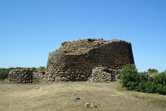 Nuraghe Losa. Sardinia (Sardegna), Italy, Archeological building 1500 a.c stock images