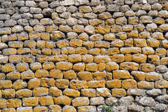 Nuraghe Losa. Sardinia (Sardegna), Italy, Archeological building 1500 a.c. Detail of wall royalty free stock images