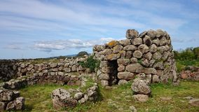Nuraghe Losa i Sardinia Royaltyfri Fotografi