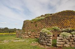 Nuraghe Losa i Sardinia Royaltyfria Bilder