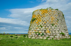Nuraghe near Santa Sabina, Sardinia, Italy. The Nuraghe near Santa Sabina - a prehistorical tower made of blocks of basalt in the Province of Sassari, Sardinia stock photography