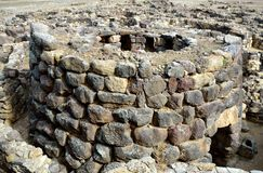 Nuraghe. The nuraghe (nuraghi, nuraghes) is ancient megalithic edifice, the symbol of Sardinia and the Nuragic civilization Stock Photos
