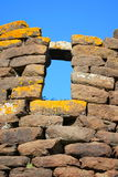 Nuraghe, particular. Nuraghe, Archeological building in Sardinia, Italy (1500 B.C stock photos