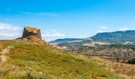 Nuraghe Peddaggiu in Sardinia nature Stock Photo