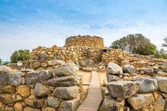 Nuraghe Prisgiona. ARZACHENA,ITALY - SEPTEMBER 15,2014 - Nuraghe Prisgiona in nuragic archaeological site located in the Capichera valley near Arzachena.Was Royalty Free Stock Images