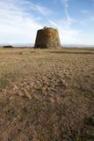 Nuraghe Santa Sabina, uma torre simples da Idade do Bronze, Sardinia, Italia Imagem de Stock Royalty Free