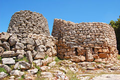 Nuraghe Serbissi. Esternal tower of nuraghe serbissi stock images