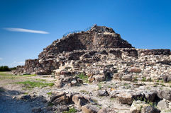 Nuraghe Su Nuraxi. Di Barumini - typical Bronze Age buildings called Nuraghe, the most important archaeological site of the Sardinia. It is a circular defensive stock photos