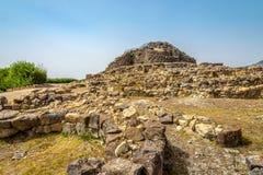 Nuraghe Su Nuraxi near Barumuni in Sardinia Stock Image