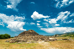 Nuraghe. Of Su Nuraxi in Sardinia, Italy royalty free stock photo