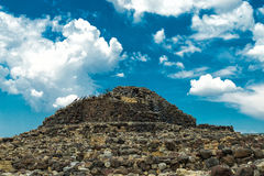 Nuraghe. Of Su Nuraxi in Sardinia, Italy royalty free stock image