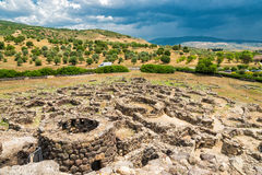 Nuraghe. Of Su Nuraxi in Sardinia, Italy Stock Photography