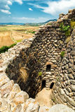 Nuraghe. Of Su Nuraxi in Sardinia, Italy royalty free stock images