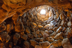 Nuraghe. Of Su Nuraxi in Sardinia, Italy Royalty Free Stock Photos