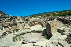 The nuraghi of Barumini in Sardinia Italy.  stock photos