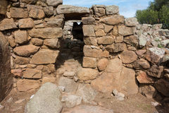 Nuraghic culture. The Nuraghe Albucciu. Albucciu is one of the so-called corridor nurses, which are not like many other Bronze Age fortresses in Sardinia, but Stock Photos