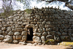 Nuraghic culture. The Nuraghe Albucciu. Albucciu is one of the so-called corridor nurses, which are not like many other Bronze Age fortresses in Sardinia, but Royalty Free Stock Images