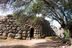 Nuraghic culture. The Nuraghe Albucciu. Albucciu is one of the so-called corridor nurses, which are not like many other Bronze Age fortresses in Sardinia, but Stock Images