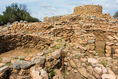 Nuraghic culture. The nuragic settlement La Prisgion was once the most important nuragic settlement in the north Sardinian region Royalty Free Stock Photography