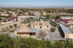 Nurata, Uzbekistan. Uzbekistan. View down to Nurata from the fort of Alexander the Great royalty free stock images