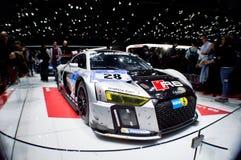 2015 Nurburgring-winnaar Audi R8 in Genève 2016 Stock Fotografie
