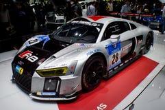 2015 Nurburgring-winnaar Audi R8 in Genève 2016 Stock Afbeelding