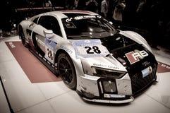 2015 Nurburgring winner Audi R8 at Geneva 2016 Royalty Free Stock Photo