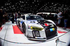 2015 Nurburgring winner Audi R8 at Geneva 2016 Stock Photography