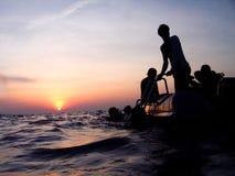 Nurek łódź Obrazy Stock