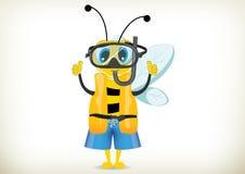 Nurek pszczoła Ilustracji