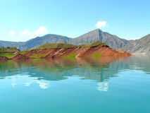 Nurek-Reservoir Stockfotografie