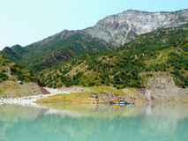 Nurek reservoir. The Nurek hydropower plant on the Vakhsh Tajikistan Stock Photography