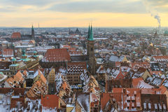 Nurember City View during winter time Royalty Free Stock Image