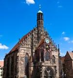 Nuremberg - église de notre Madame Images libres de droits